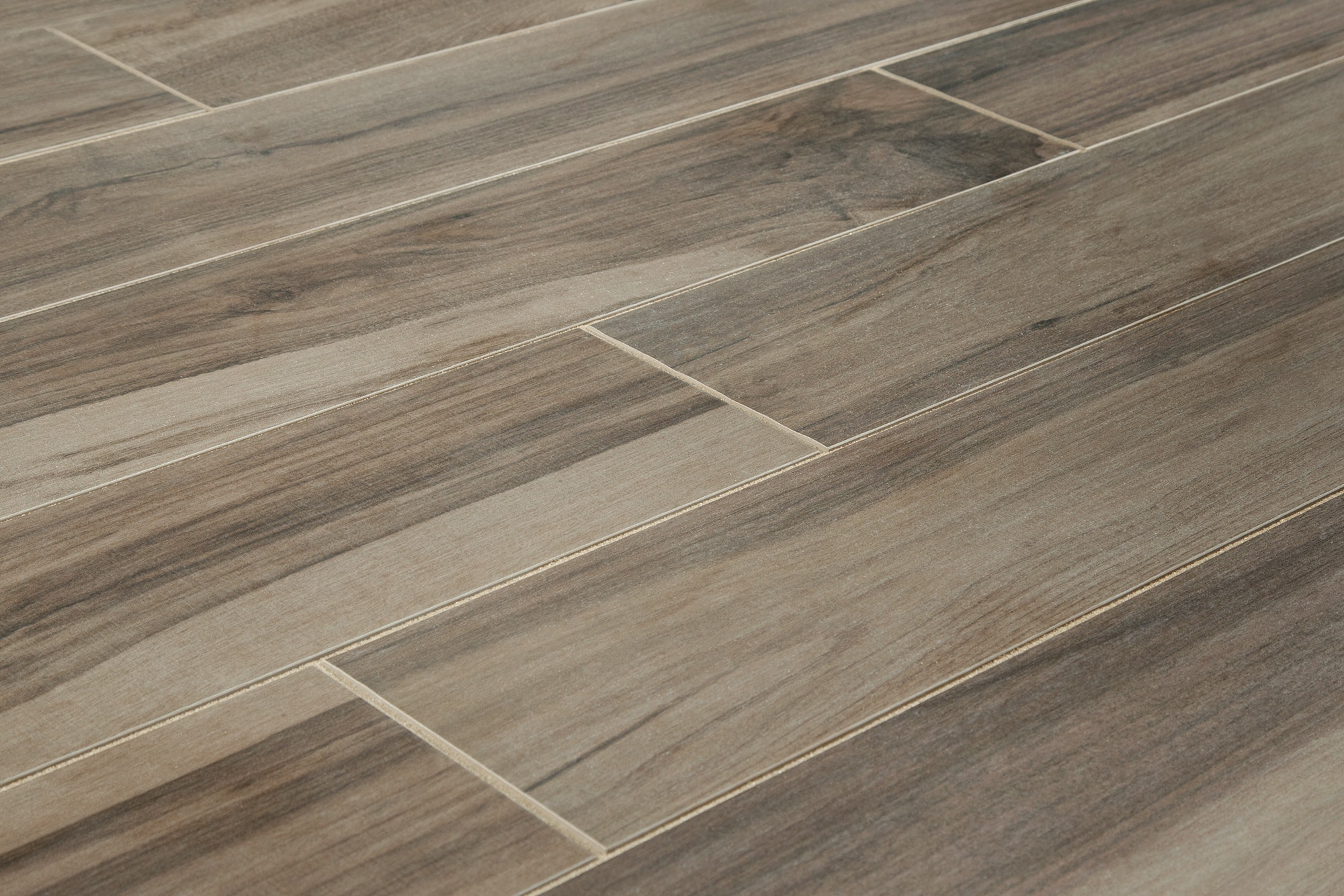 Wood grain floor tiles