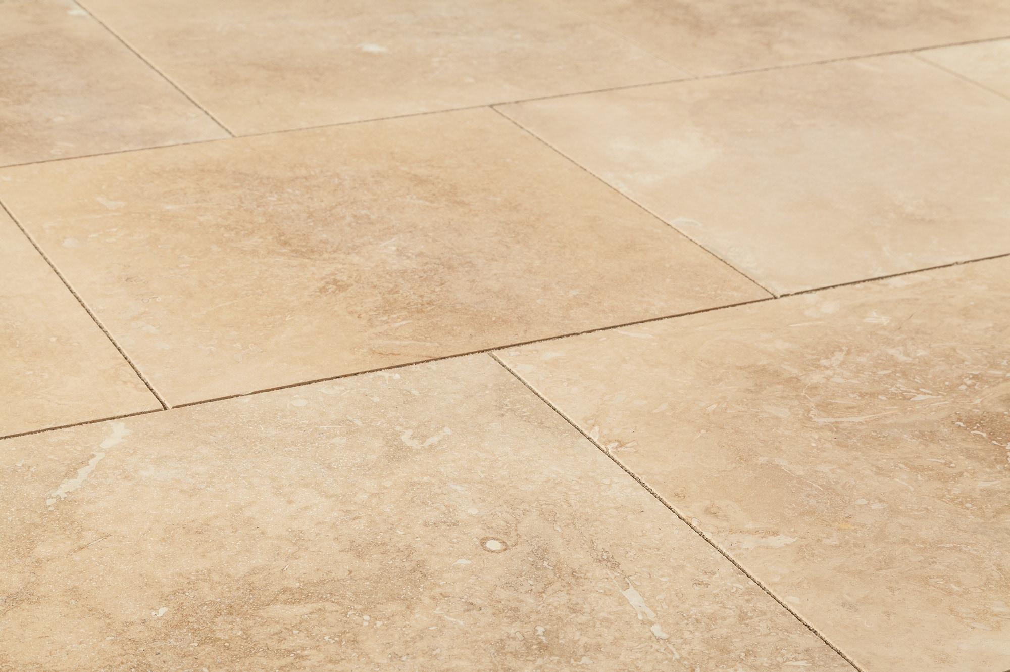 Grey travertine floor tiles