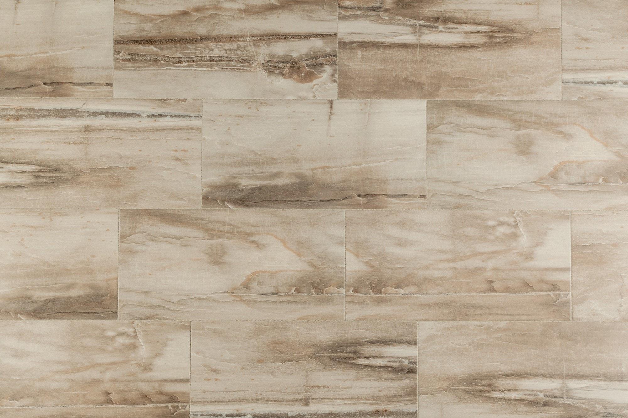 "Beige / 9""x36"" Porcelain Tile - Fossilized Wood Series 0"