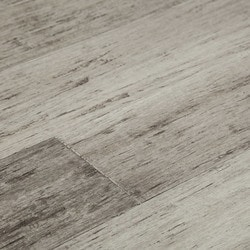 Yanchi 12mm Wide Plank Distressed Tu0026G Solid Strand Woven Bamboo Flooring.  Smoky Gray
