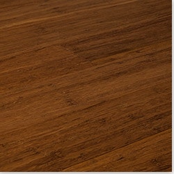 Natural Color Click Lock Solid Strand Woven Bamboo Flooring   Carbonized   .