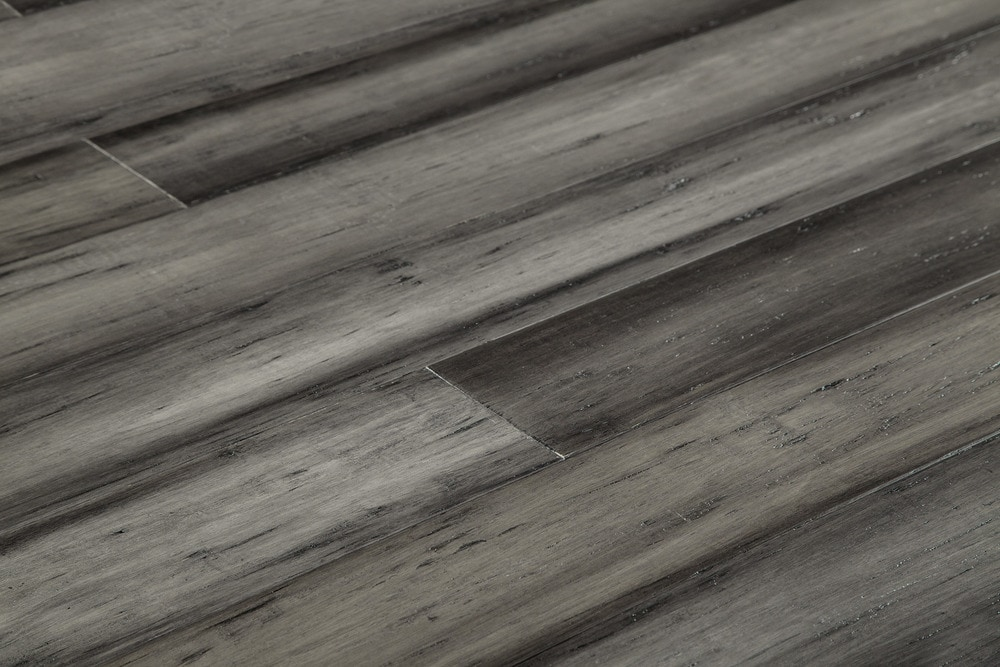 FREE Samples Yanchi Antique Handscraped TG Solid Strand Woven - How expensive is bamboo flooring