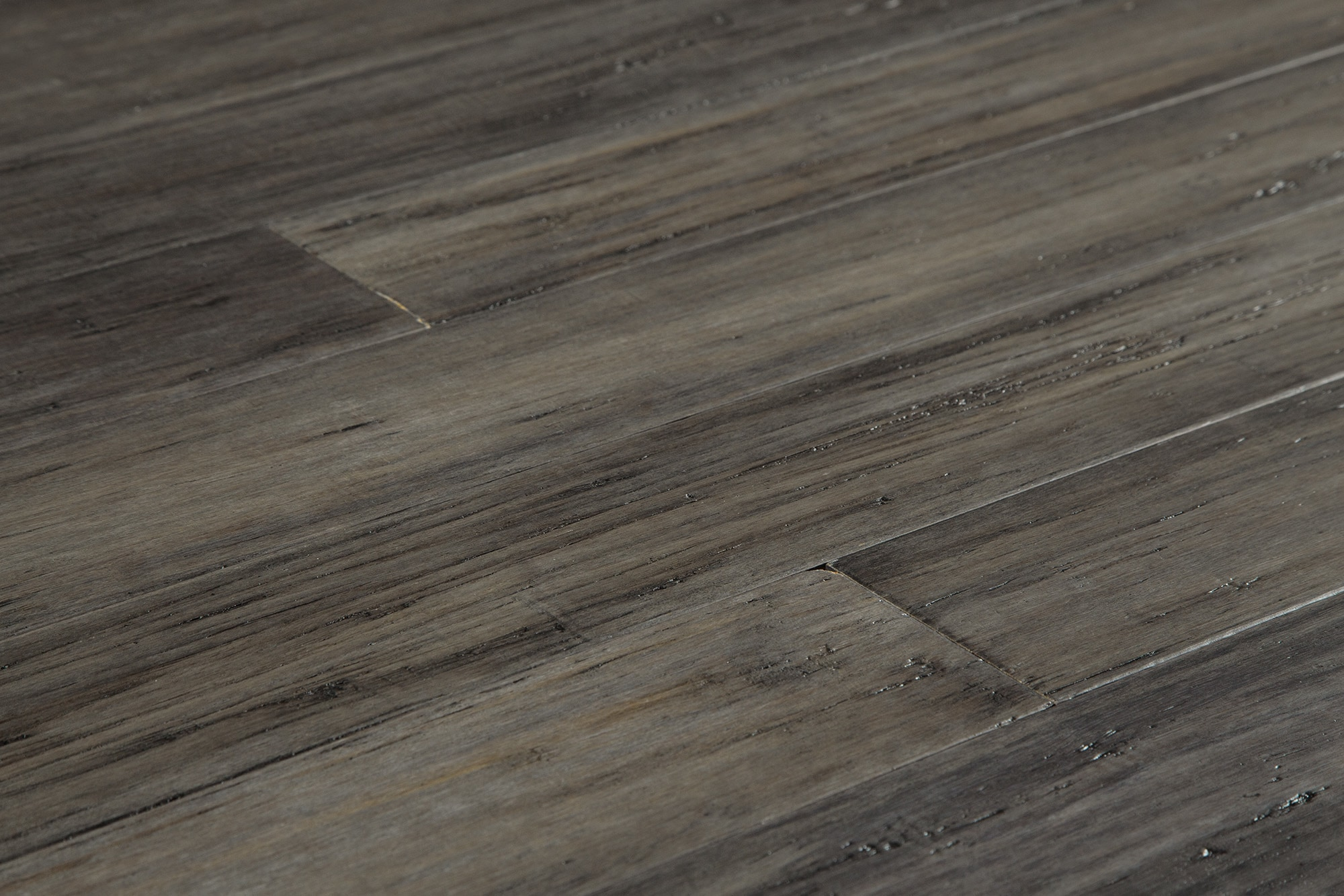 Yanchi Antique Handscraped Tu0026G Solid Strand Woven Bamboo Flooring Antique  Steel
