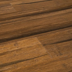 Stained Tu0026G Solid Strand Woven Bamboo Flooring   Black Patina