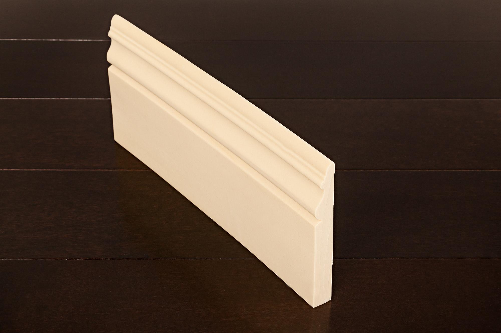 """Baseboard- 9/16"""" x 5"""" x 12' / Baseboard- 9/16"""" x 5"""" x 12' Moldings - Flexible Baseboards 0"""