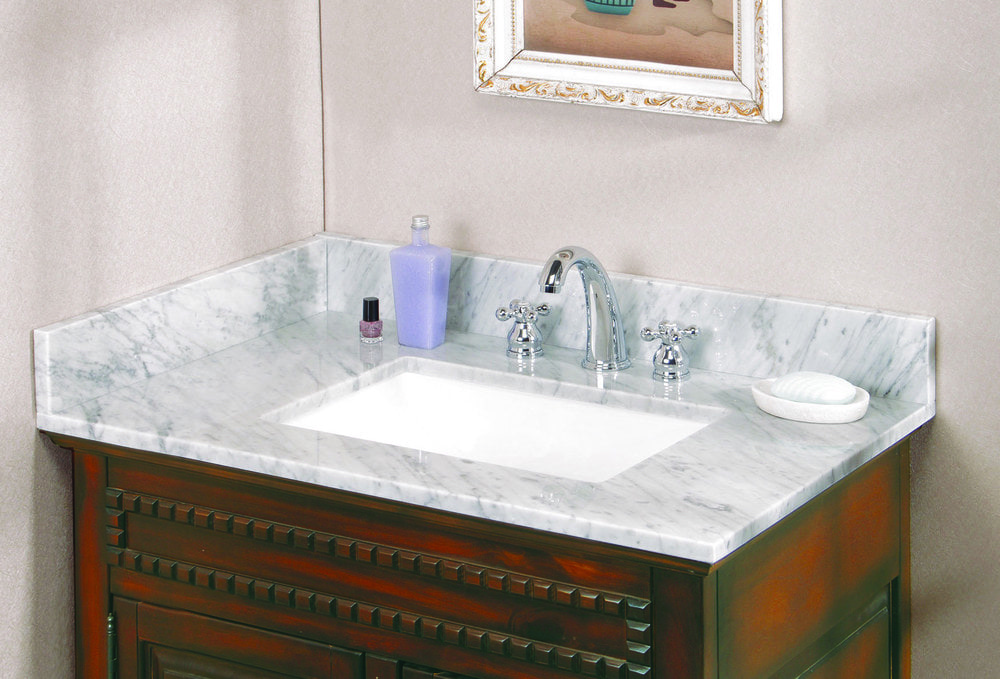 Bathroom Vanity 31 X 22 pedra marble vanity top with um trough bowl carrara marble / 31