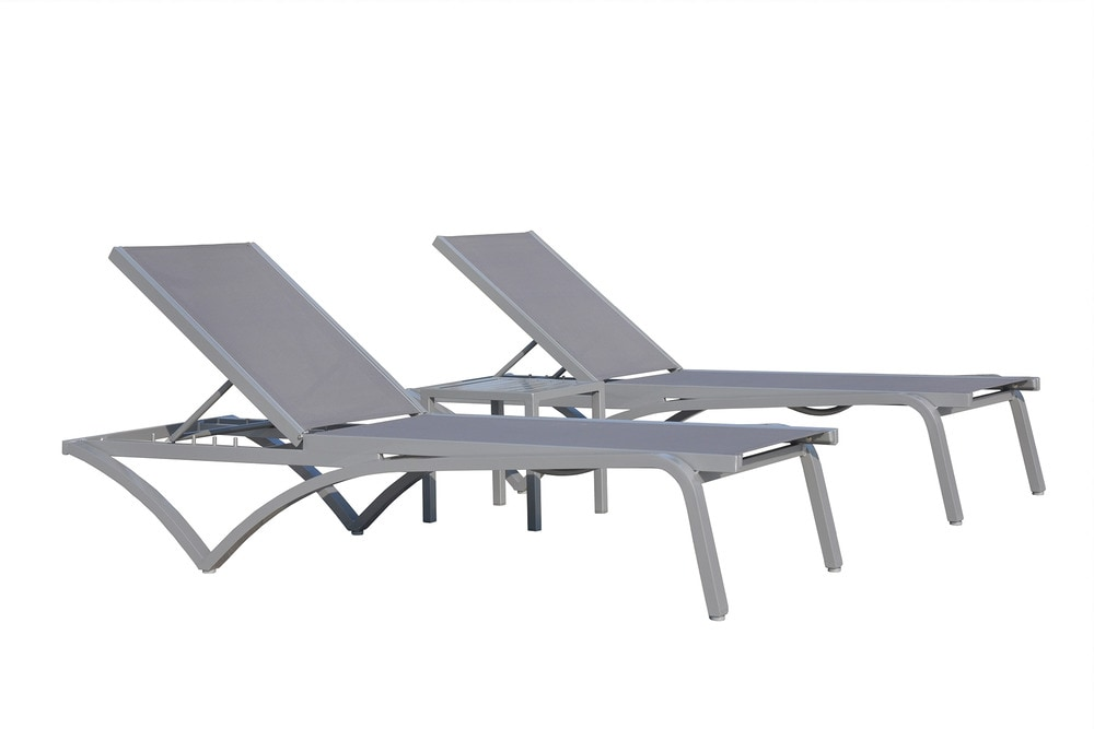 Kontiki beach pool lounge metal chaise loungers - Chaise aluminium exterieur ...