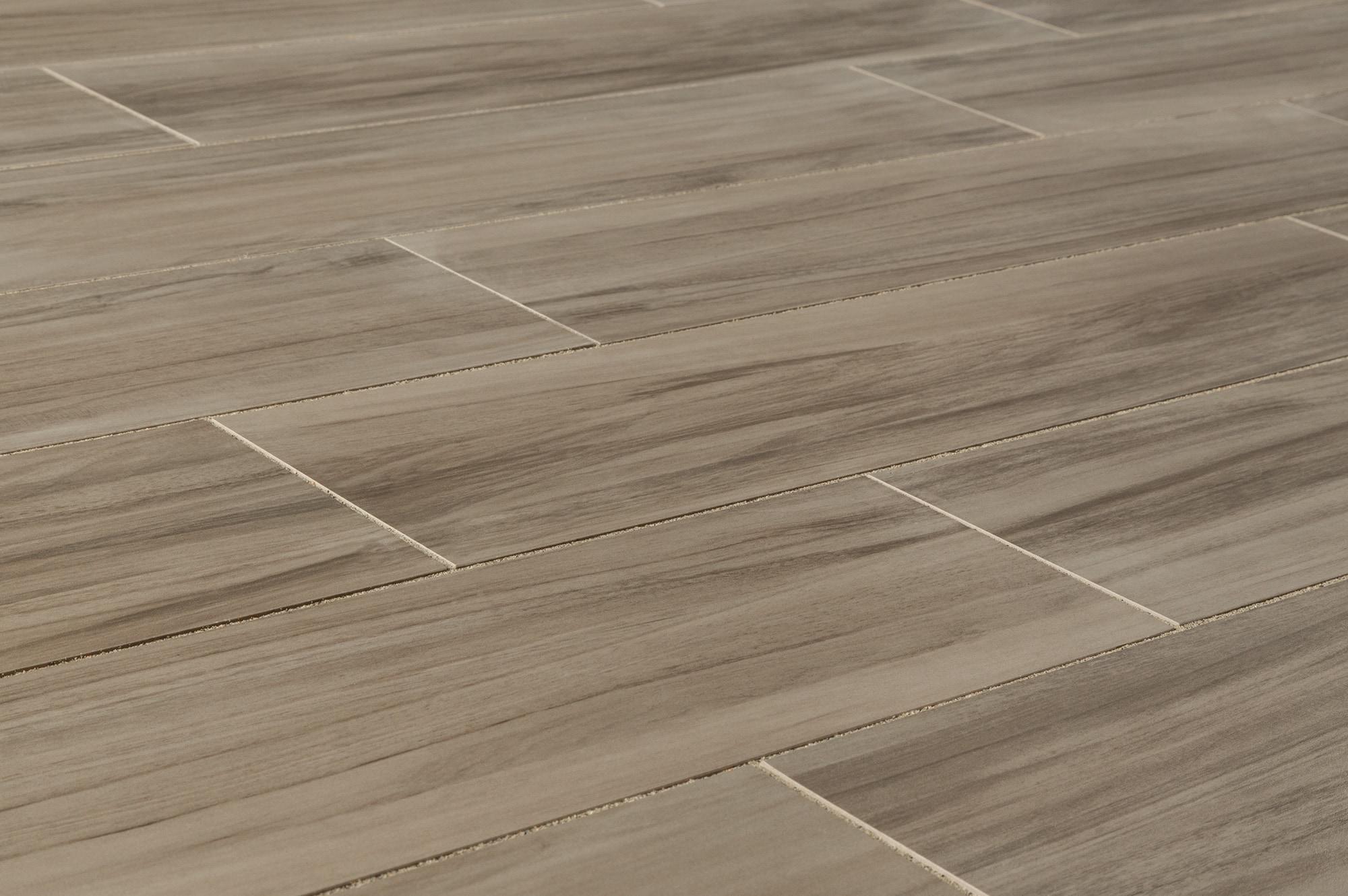"FREE Samples Kaska Porcelain Tile Aztec Series Grey 6""x24"""