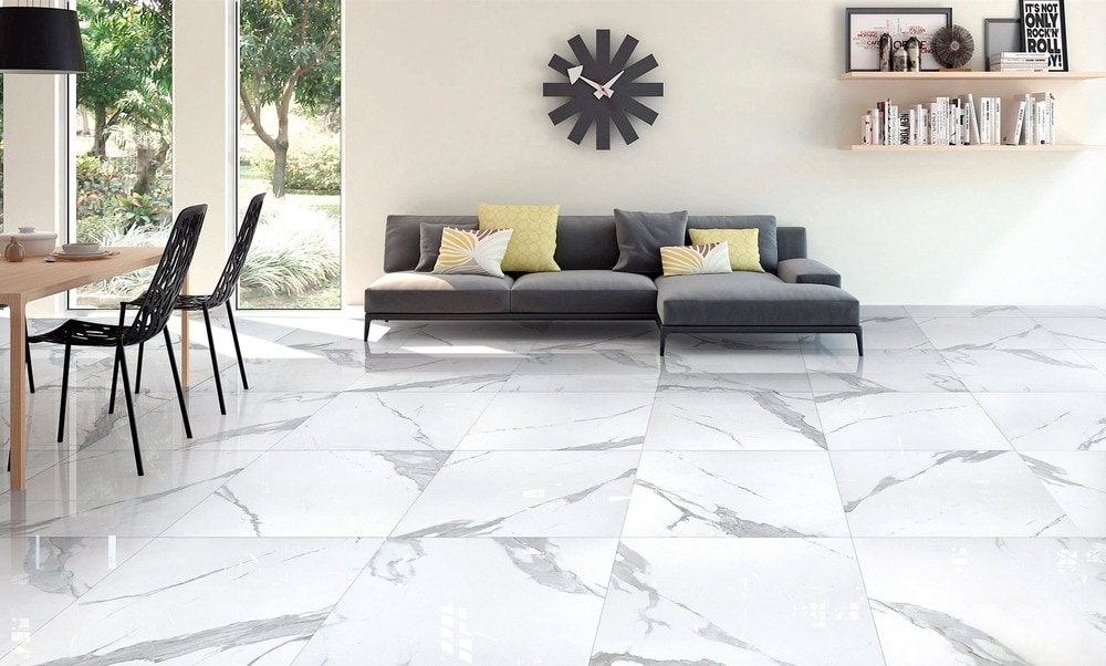 Salerno Porcelain Tile Calacatta Marble Series Calacatta 12x24