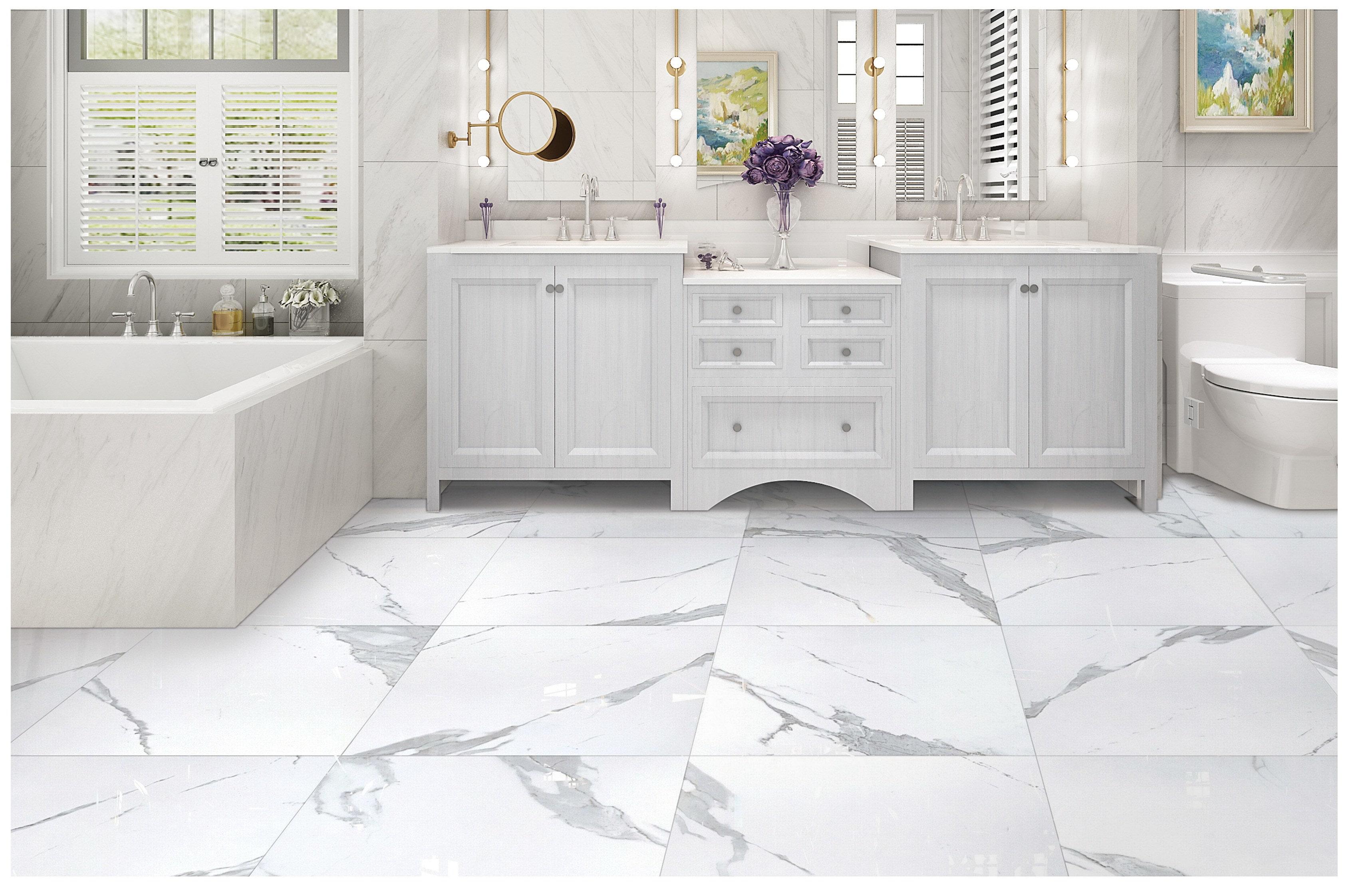 Salerno Porcelain Tile - Calacatta Marble Series Calacatta / 12\