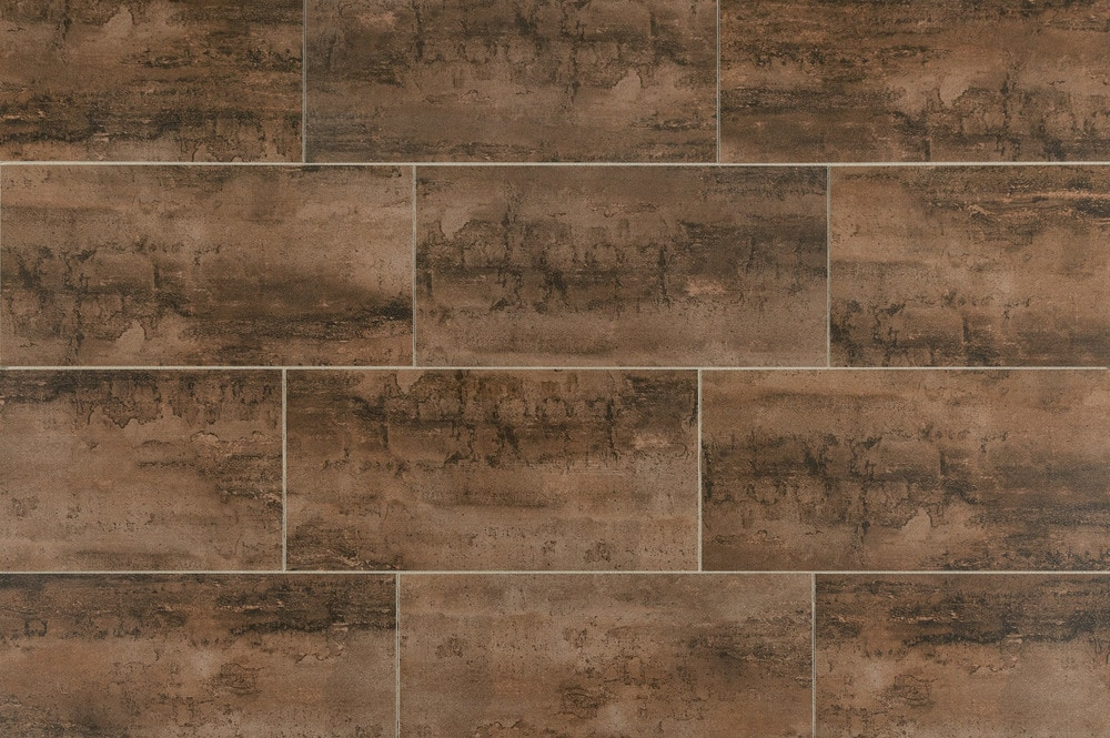 Salerno Porcelain Tile Oxidized Metal Series Brown 12 Quot X24 Quot