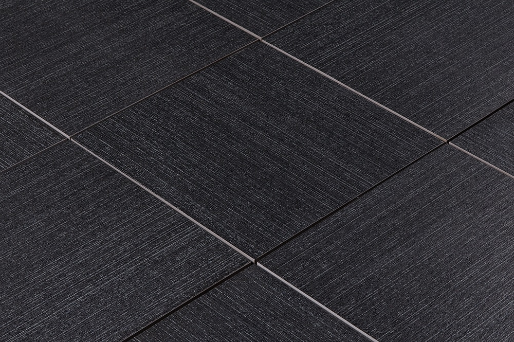Salerno Porcelain Tile Textiles Collection Charcoal 12x24