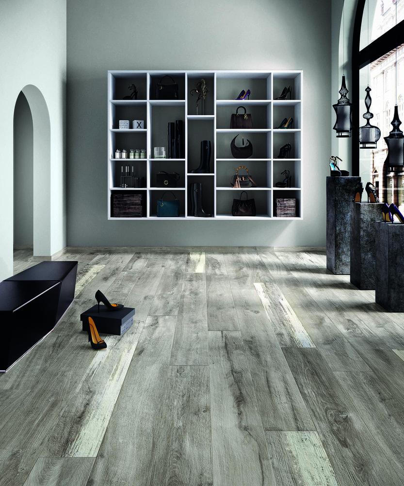 Free samples torino italian porcelain tile rustic sequoia room scene living room view dailygadgetfo Images