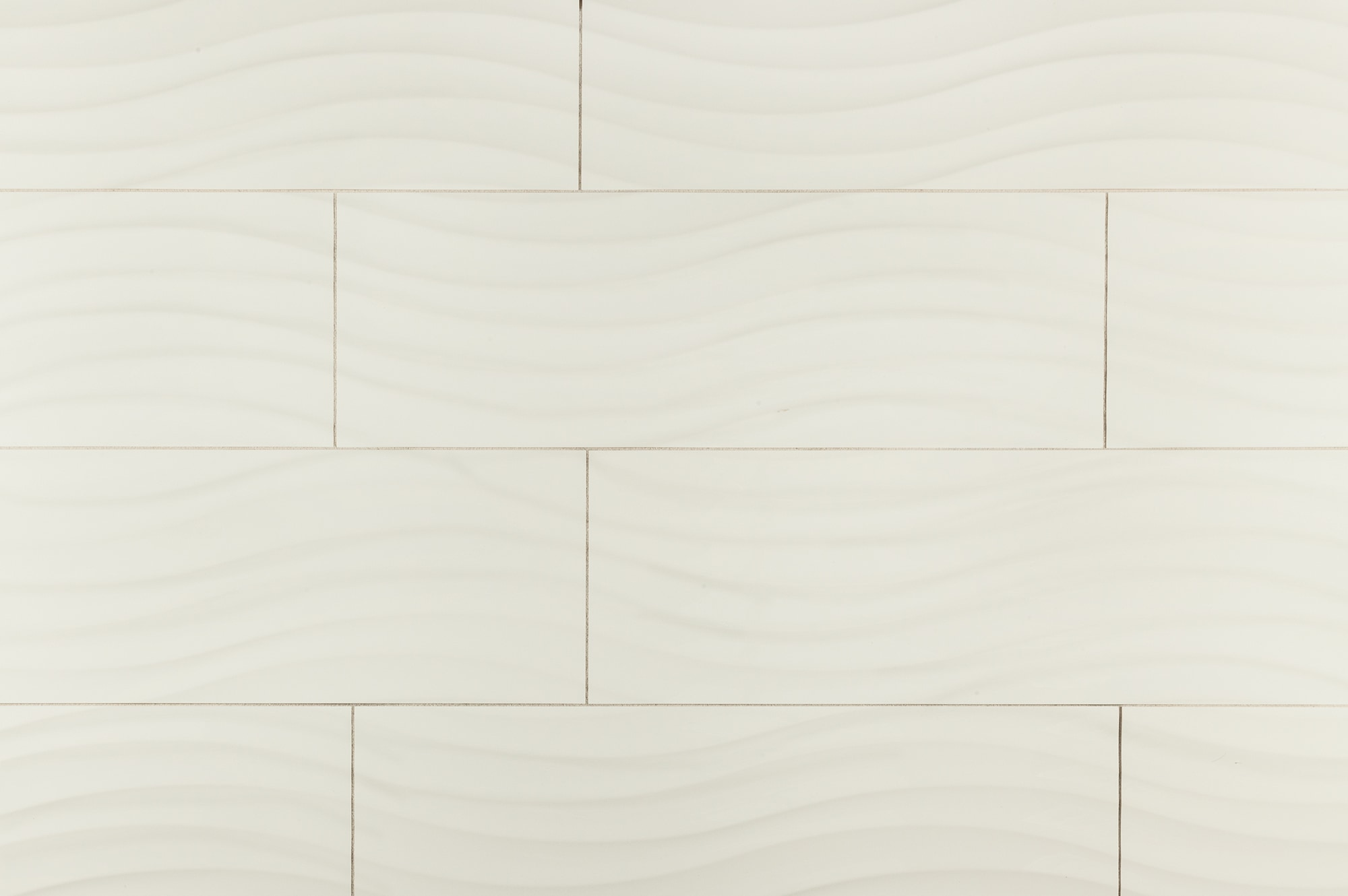 """White London Bianco Wave / 12""""x36"""" / Glossy Ceramic Wall Tile - Waves 3D Collection 0"""