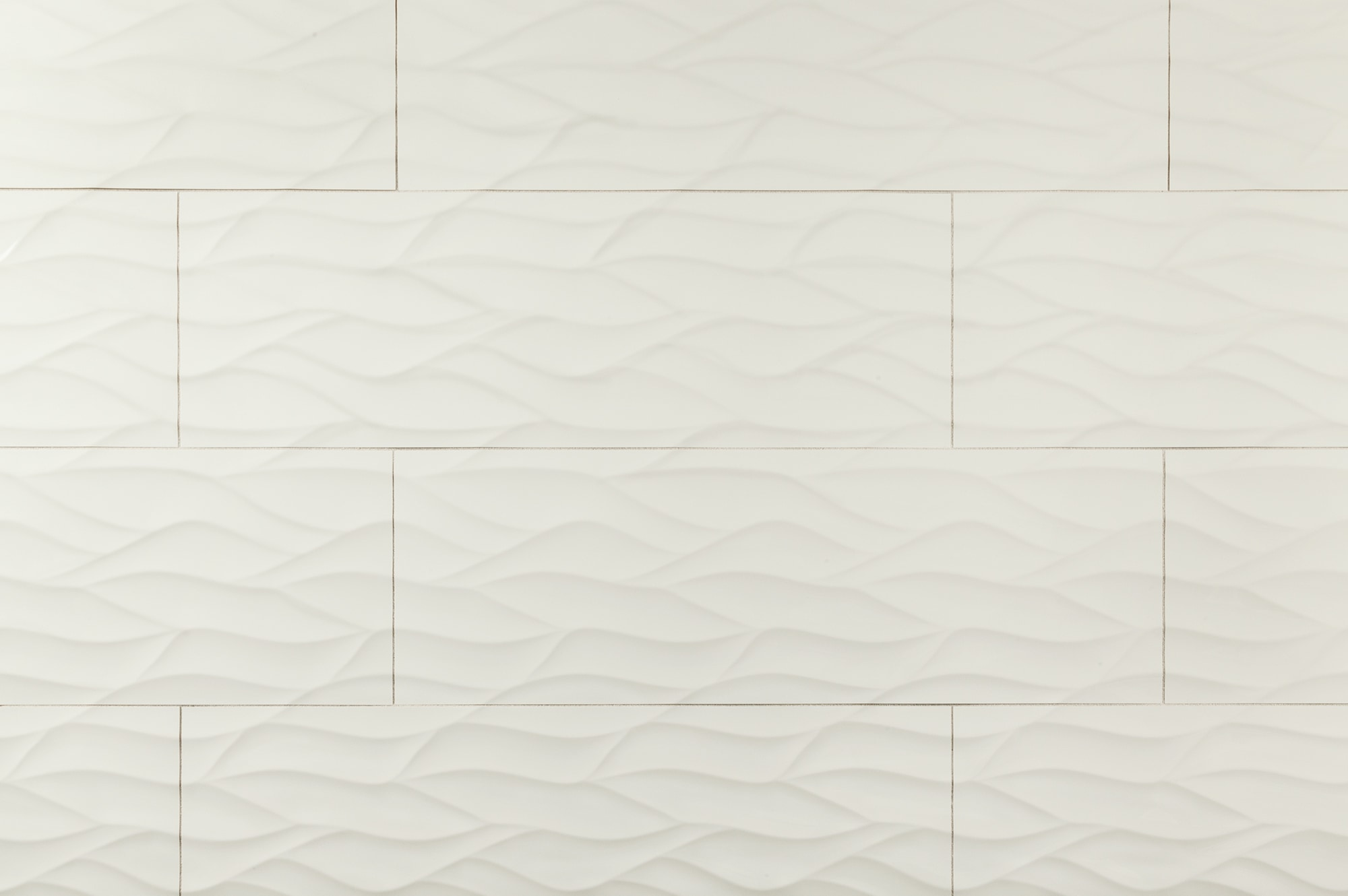 """White Ona Bianco Wave / 12""""x36"""" / Glossy Ceramic Wall Tile - Waves 3D Collection 0"""