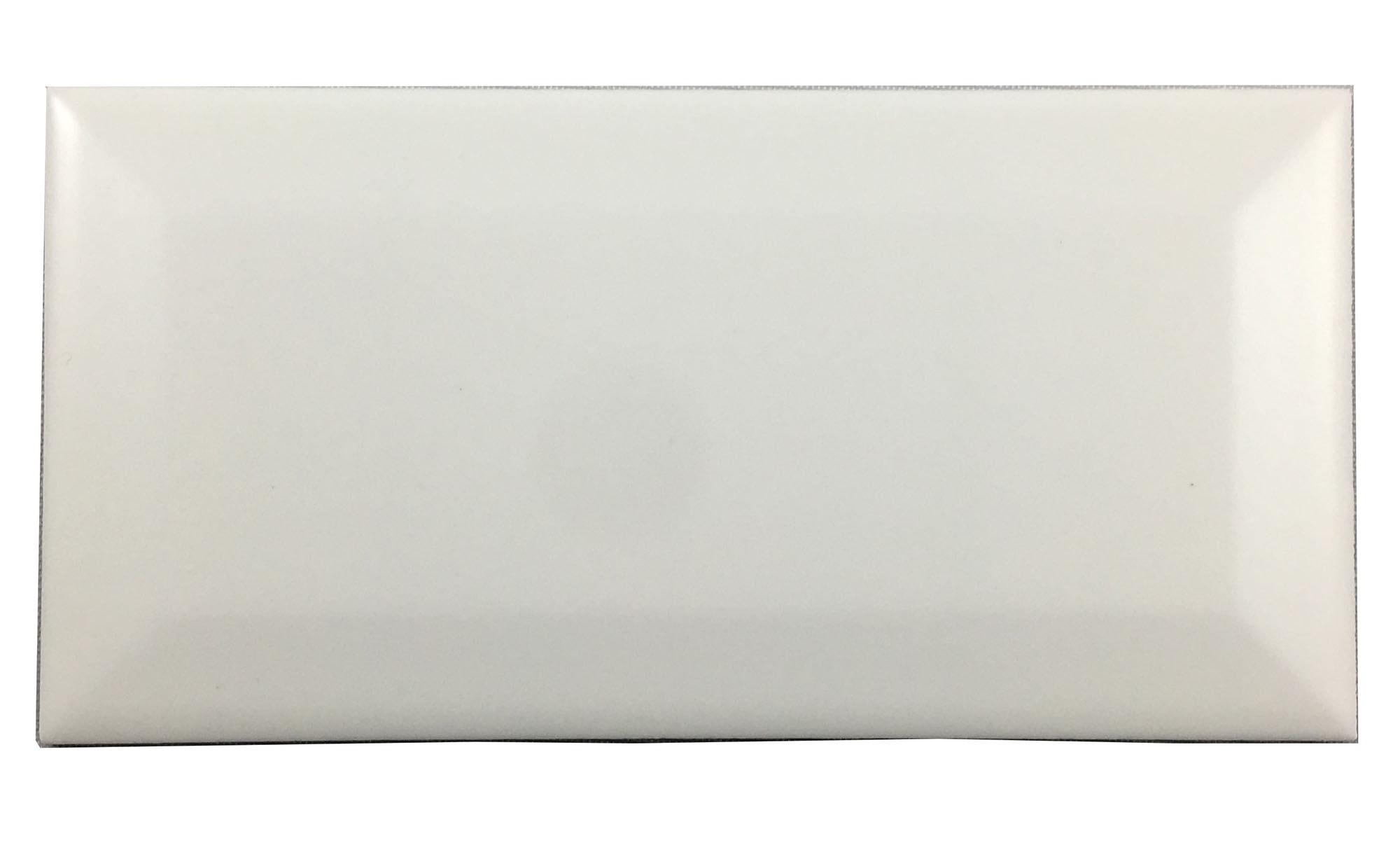 "White Beveled / 3""x6"" / Matt Subway Tile 0"