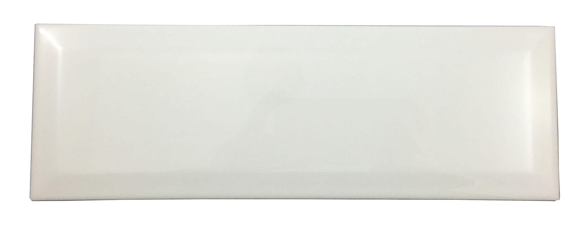 "White Beveled / 4""x12"" / Gloss Subway Tile 0"