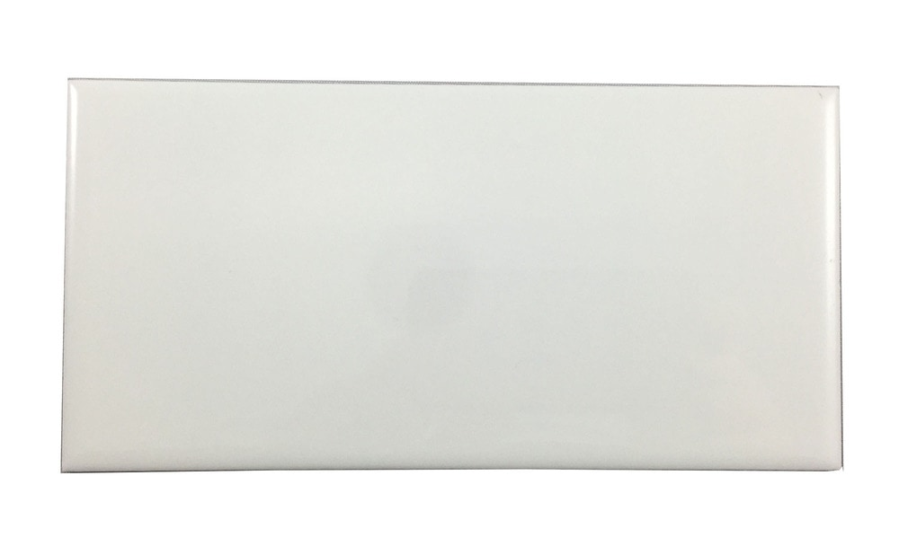 Hammersmith Subway Tile White X Gloss - 12x24 glossy white tile