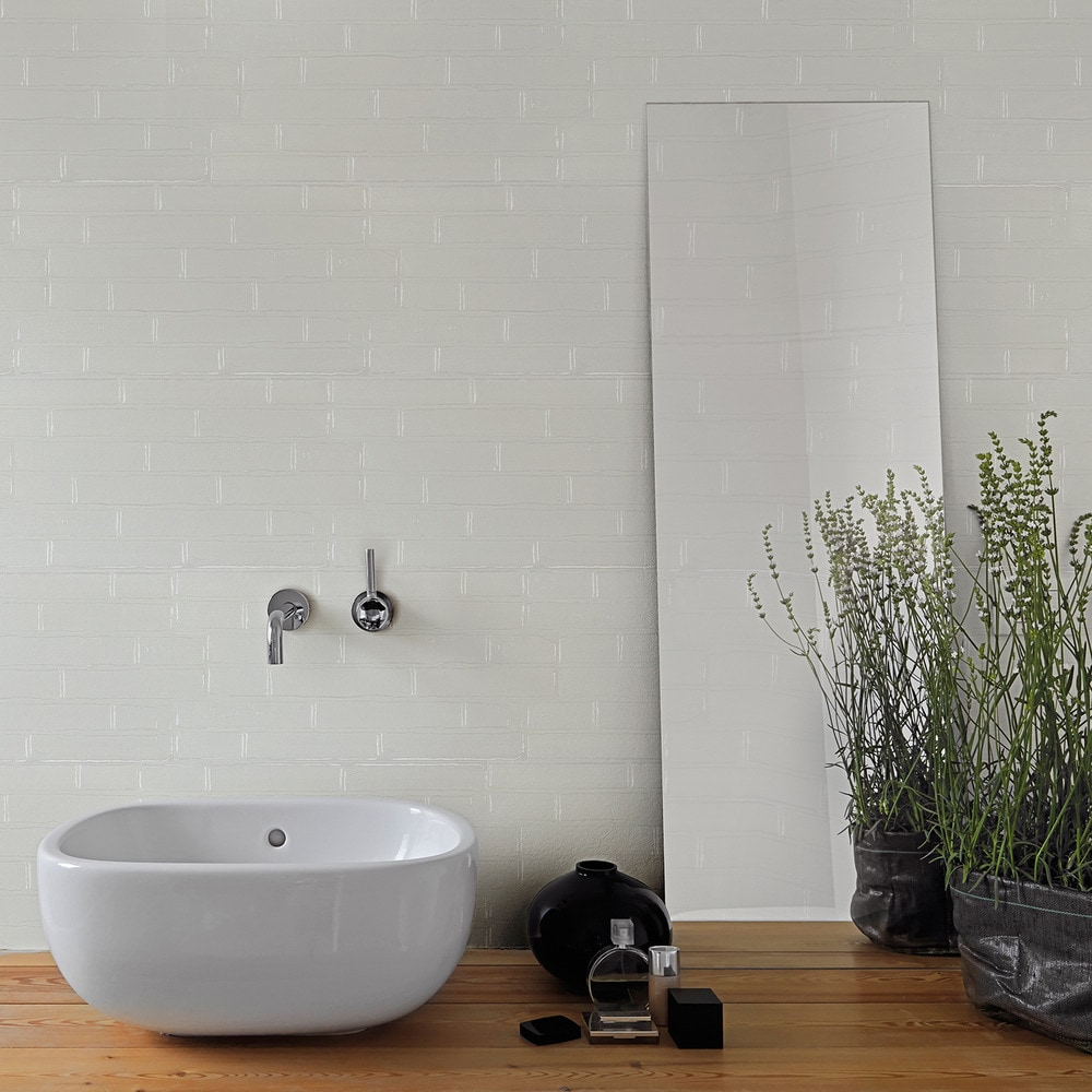 Torino Italian Porcelain Tile - Wall Brick Manhattan White / 12\
