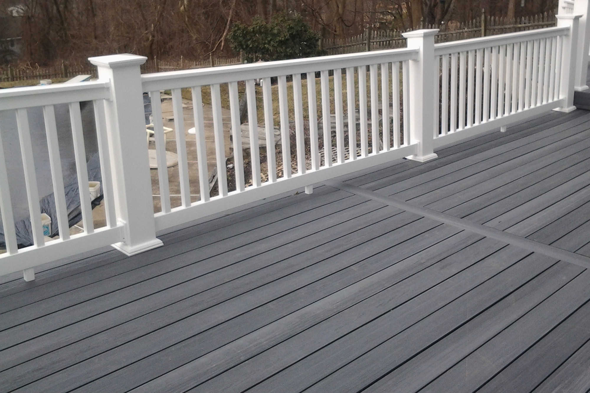 Trex decking grey images galleries for Grey composite decking