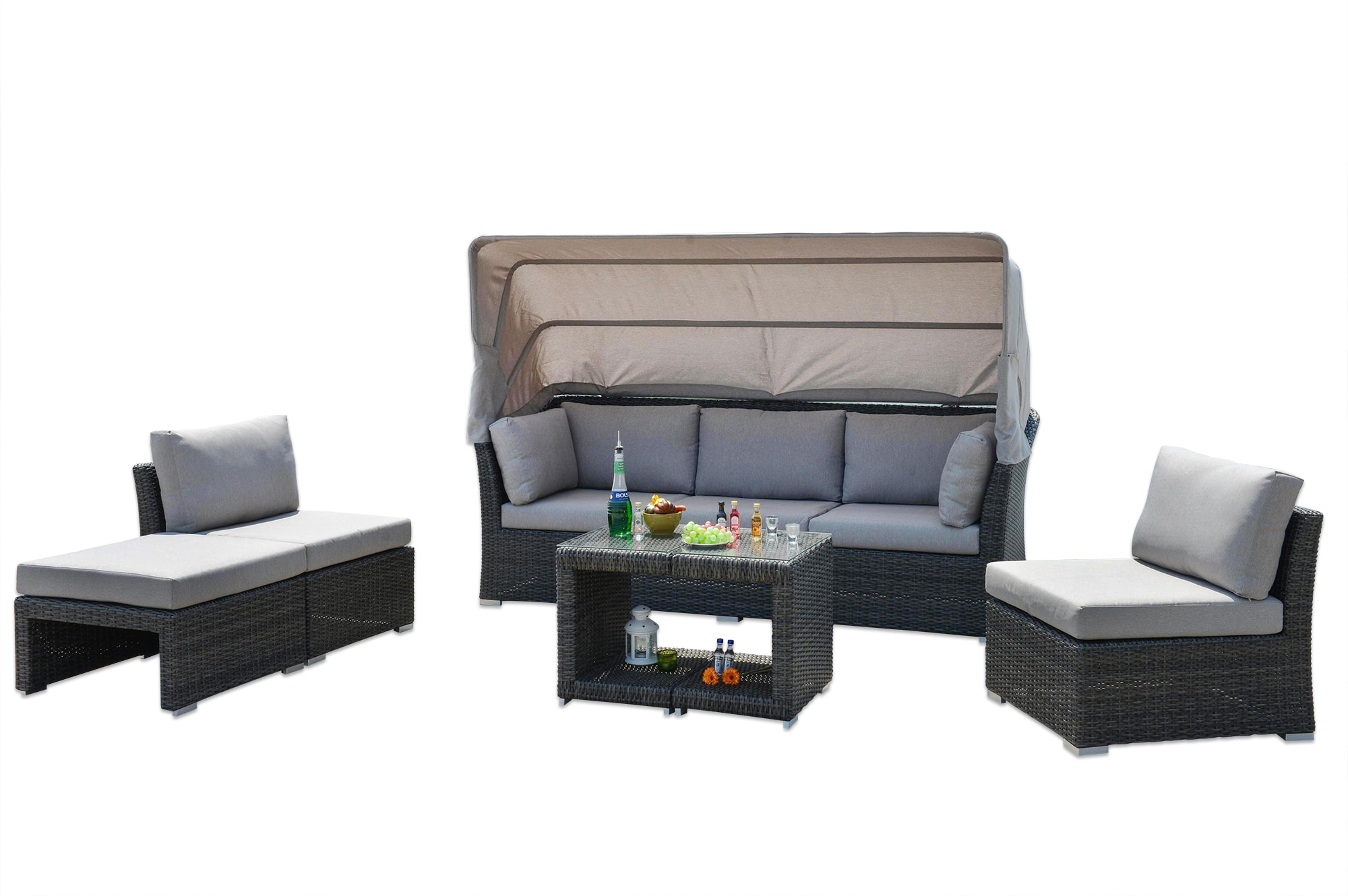 Kontiki Conversation Sets   Wicker Daybeds Bolsena Convertible Wicker DayBed
