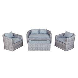 Marvelous Kontiki Conversation Sets   Wicker Sofa Sets