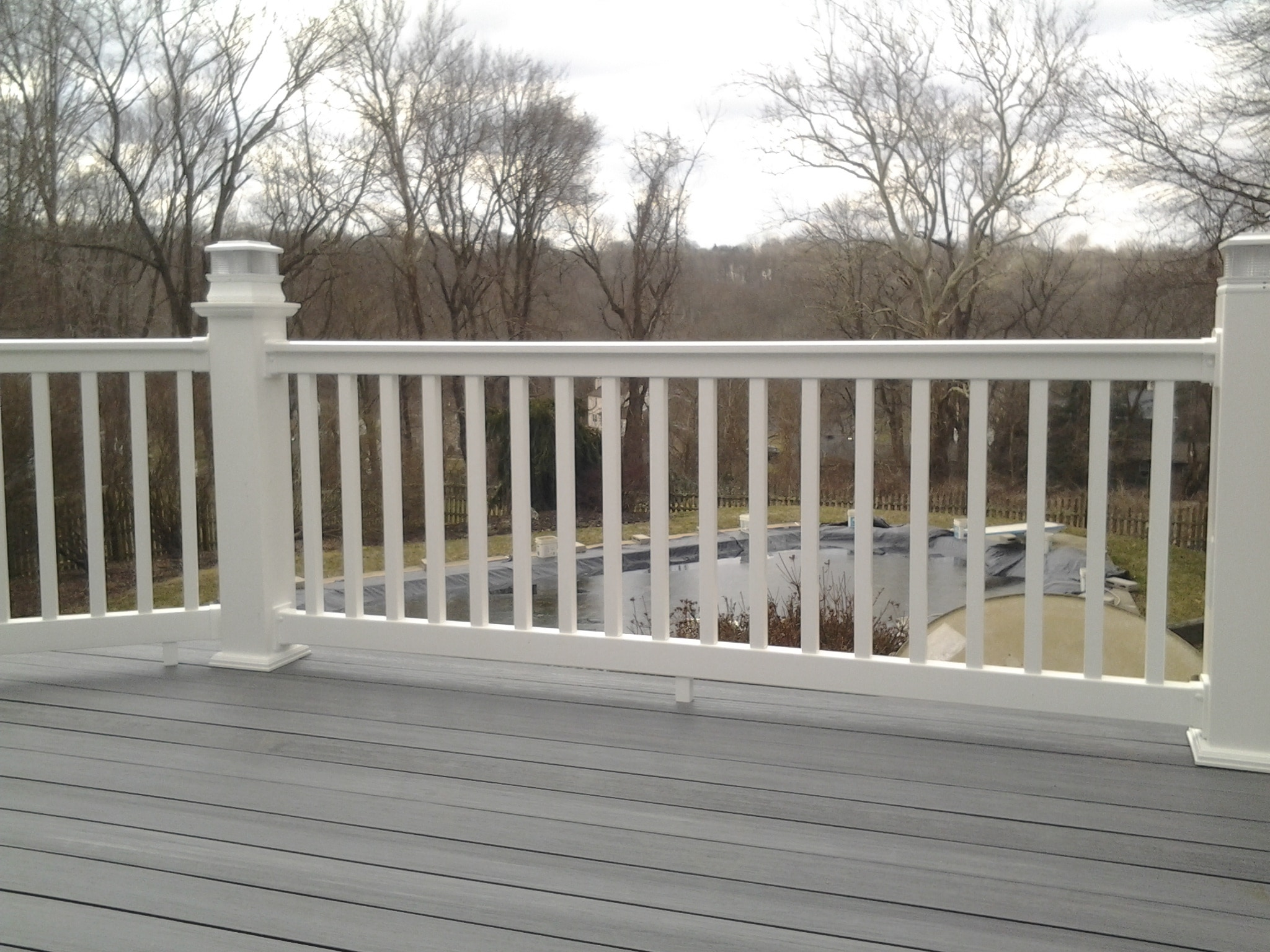 Longevity vinyl deck railing system white rail section 42 6 baanklon Image collections