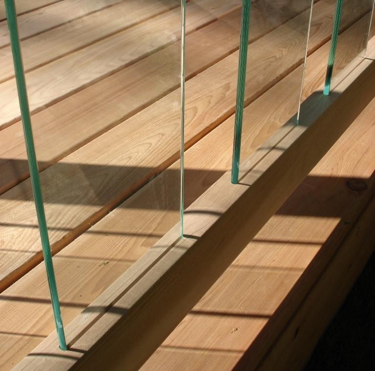 Lovely RailSimple Cedar U0026 Glass Railing Kits   Clearview Series Stair Kit Angled  Glass / 6u0027