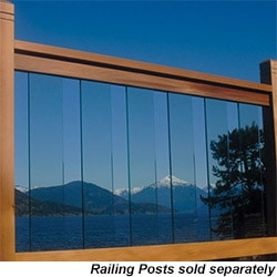 RailSimple - RailSimple Cedar & Glass Railing Kits - Clearview Series