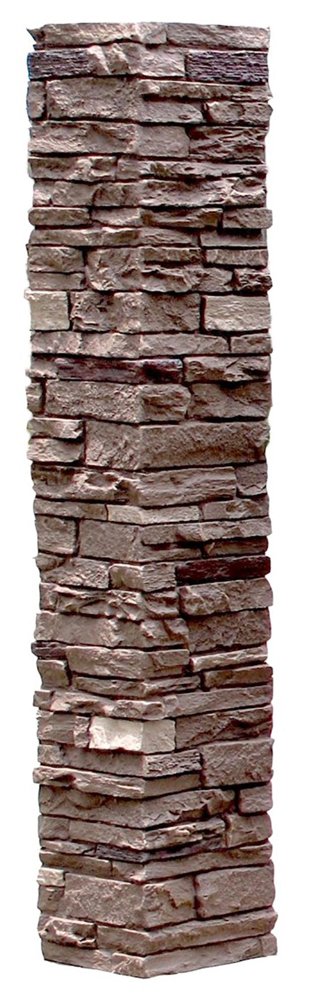 Sienna / Slatestone Faux Stone - 2 Piece Railing Post Covers 0