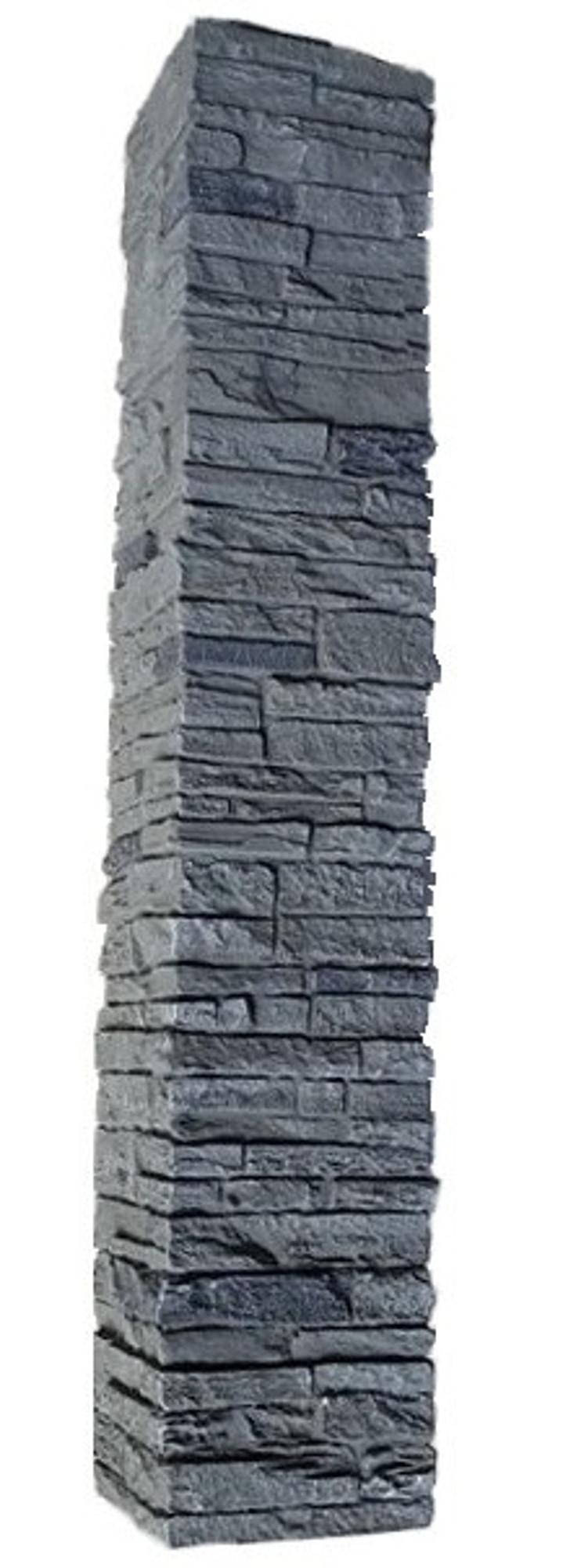 Graphite / Slatestone Faux Stone - 2 Piece Railing Post Covers 0