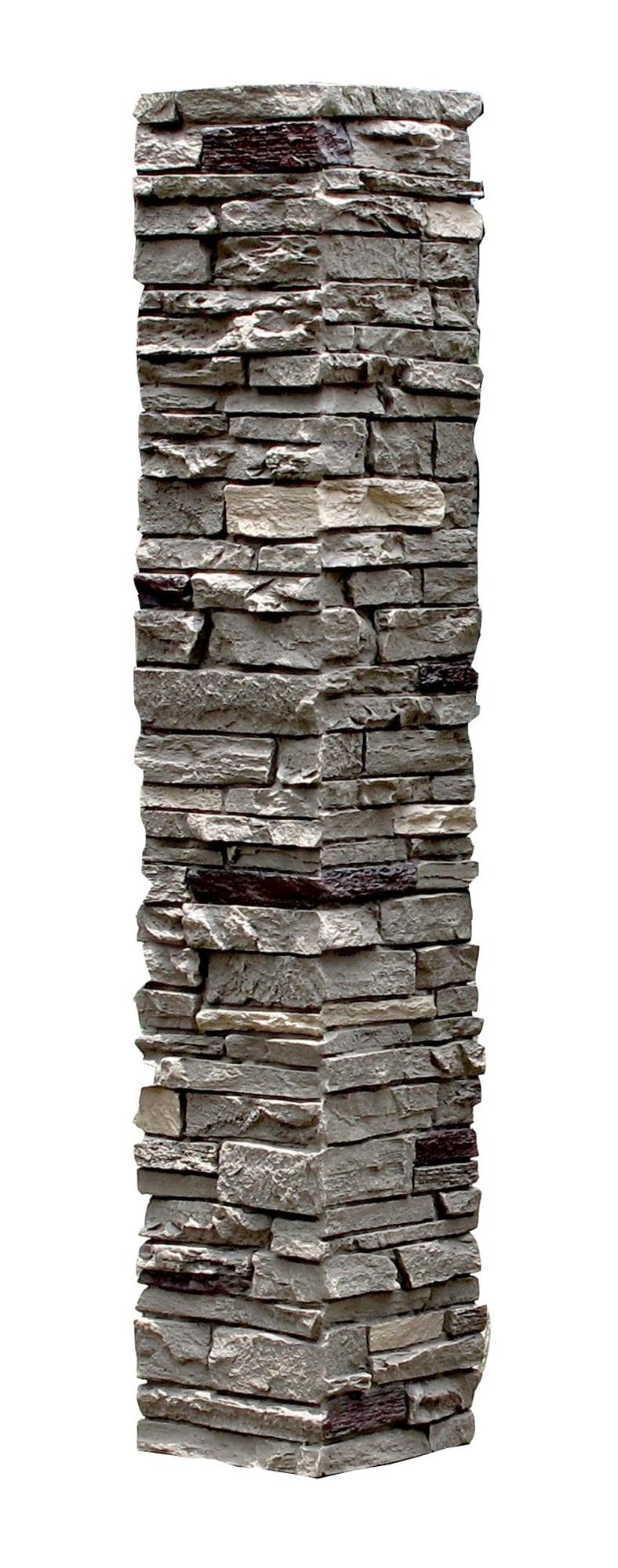 Iron / Slatestone Faux Stone - 2 Piece Railing Post Covers 0
