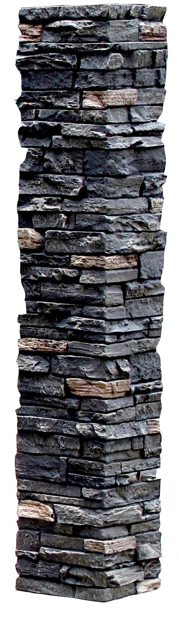 Twilight / Slatestone Faux Stone - 2 Piece Railing Post Covers 0