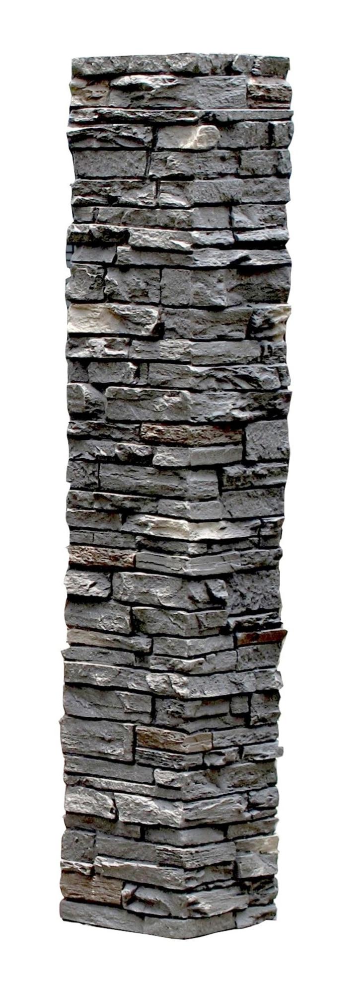 Smokey Ridge / Slatestone Faux Stone - 2 Piece Railing Post Covers 0