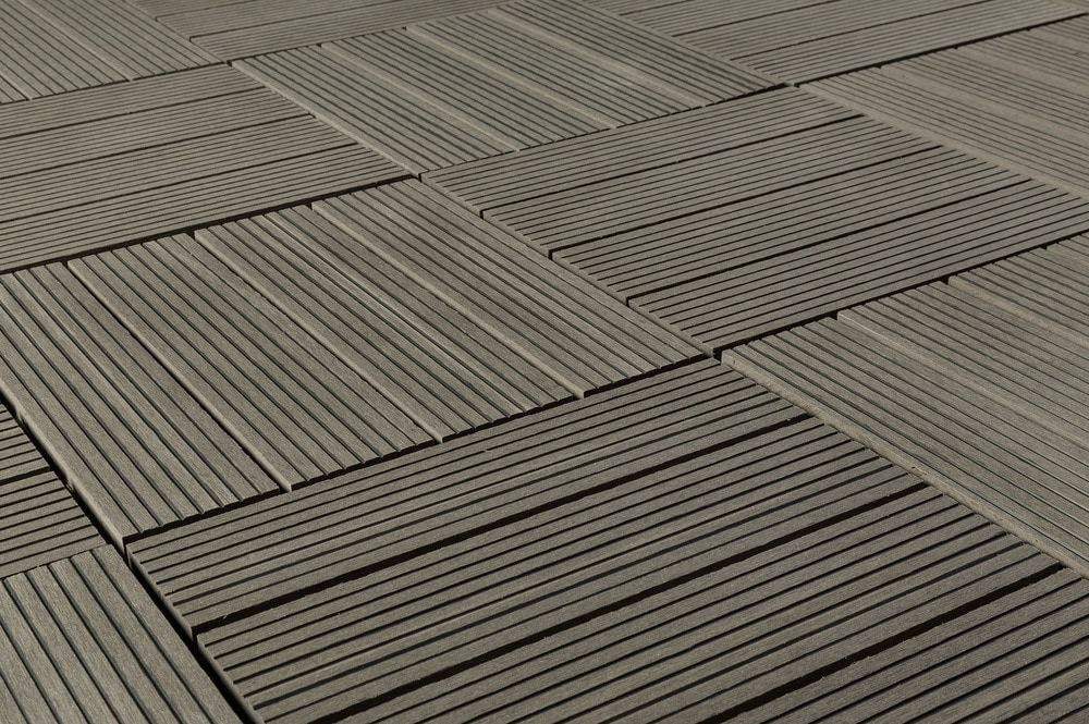 kontiki composite interlocking deck tiles classic 25 year gray 12 x12 x15 16. Black Bedroom Furniture Sets. Home Design Ideas