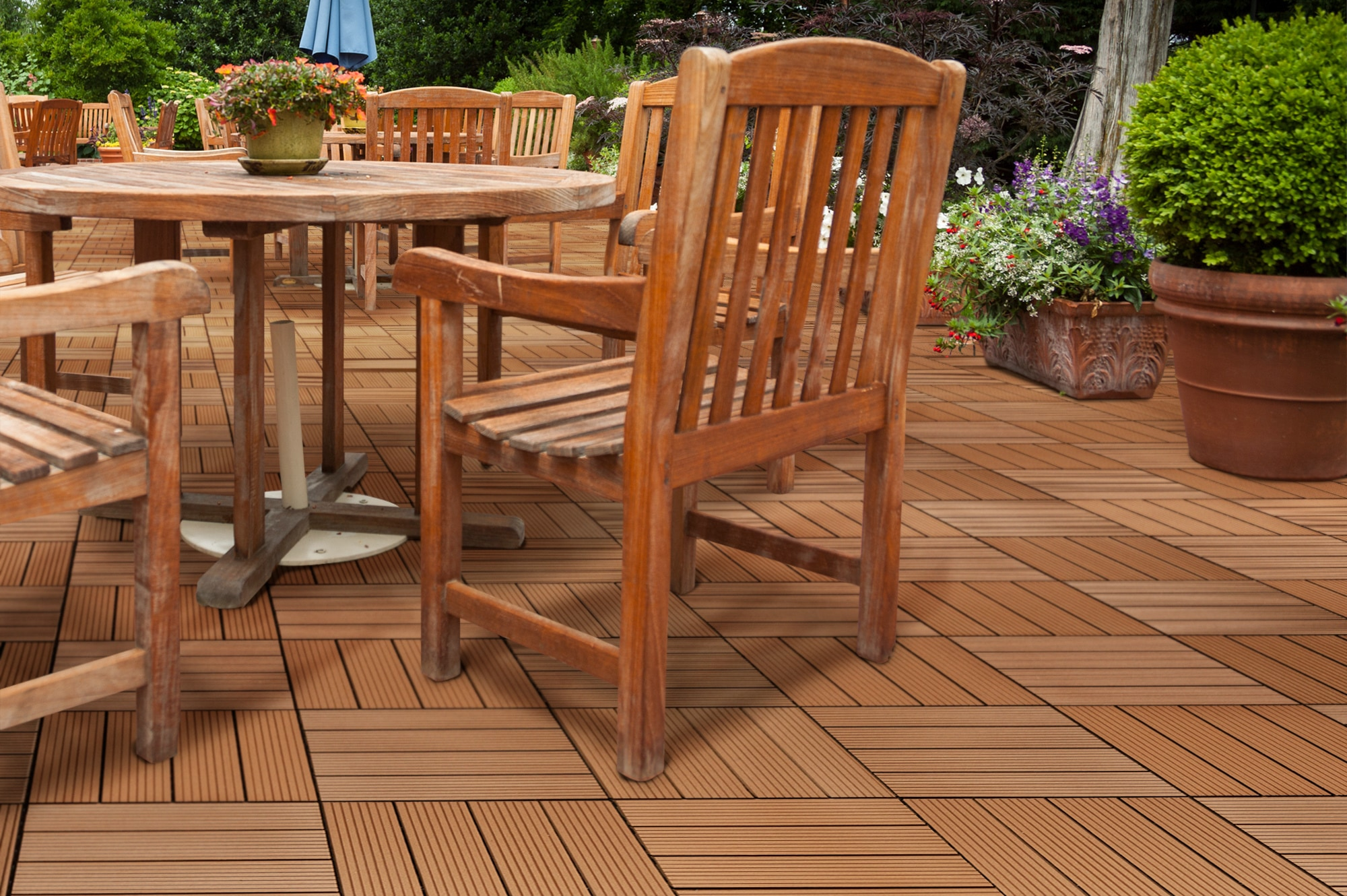 Best outdoor wood deck tiles and download floor 162outdoor for Hardwood outdoor decking