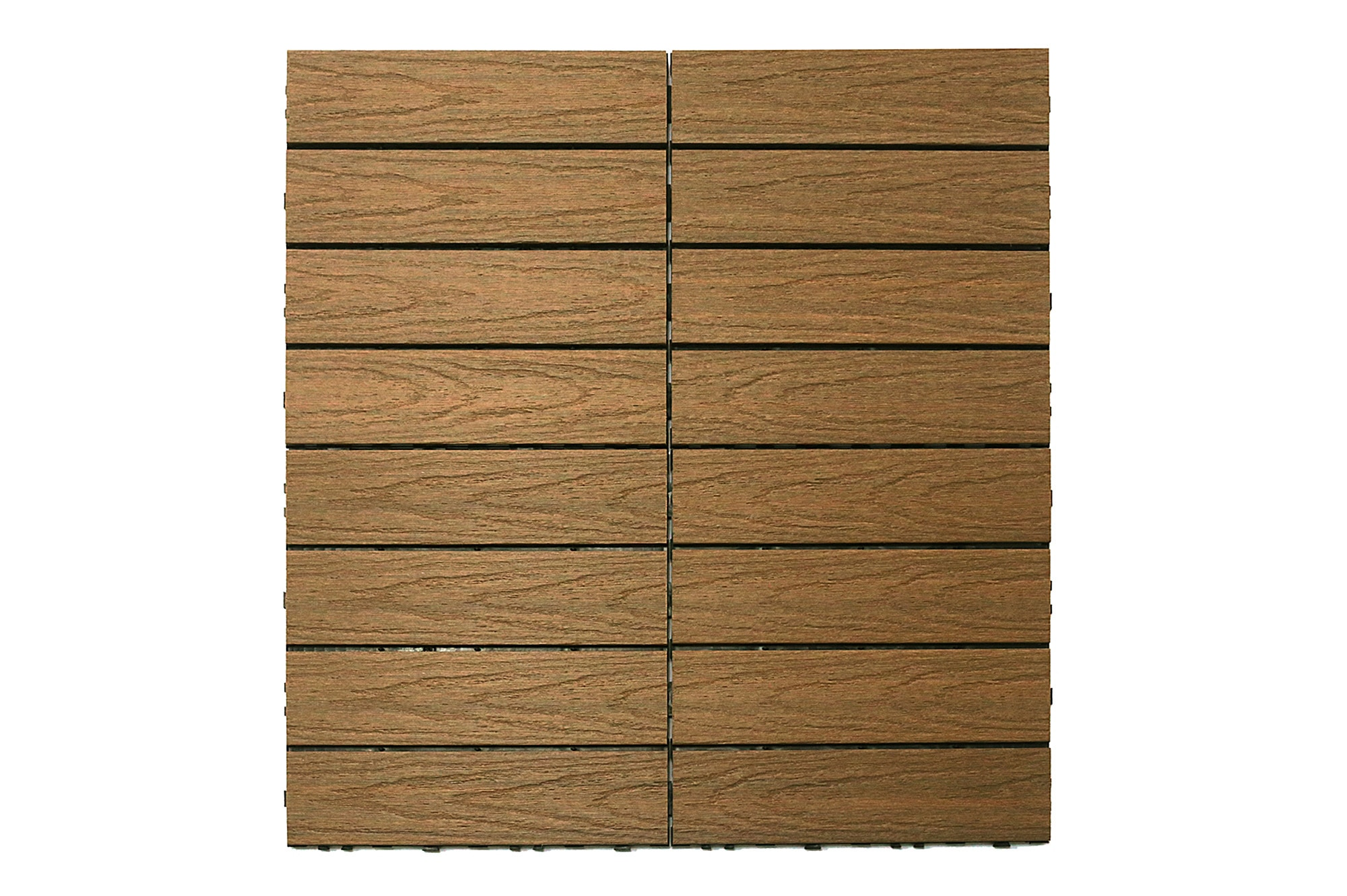 "Teak Naturale / 12""x12"" Interlocking Deck Tiles - Composite QuickDeck HD 0"