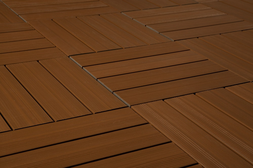 FREE Samples Kontiki Interlocking Deck Tiles Composite QuickDeck - Teak patio flooring 12x12