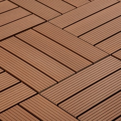 Pravol Jf Outdoor Composite Interlocking Deck Tiles Red 12