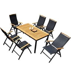 Superb Kontiki Dining Sets   Composite Medium (Ideal For 6 Seats)