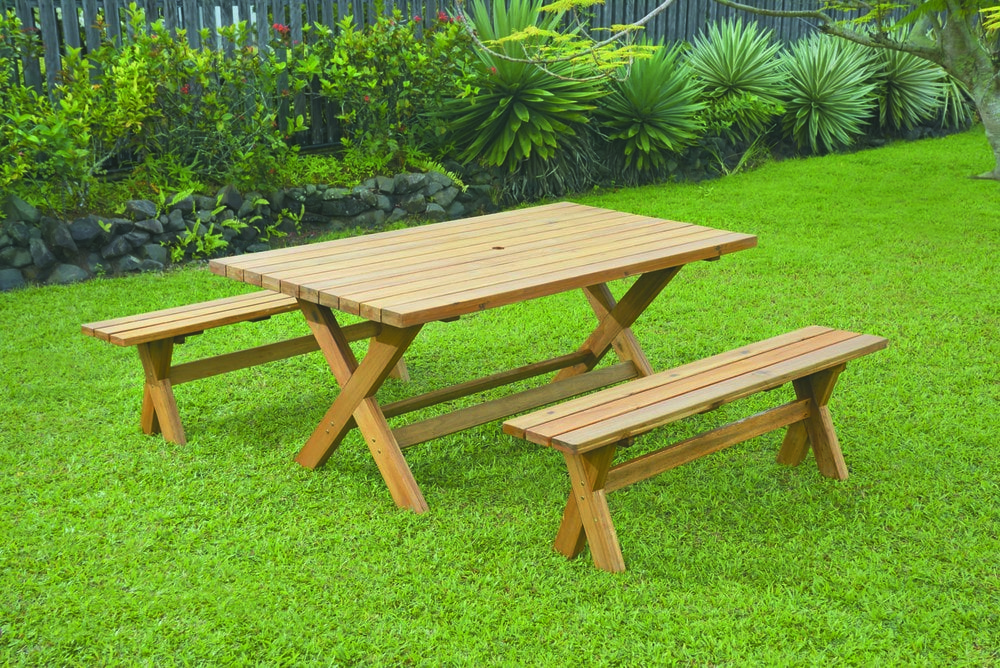 Kontiki Dining Sets - Wooden Picnic Table New York 3 Piece Picnic Table and Bench Set & Kontiki Dining Sets - Wooden Picnic Table New York 3 Piece Picnic ...
