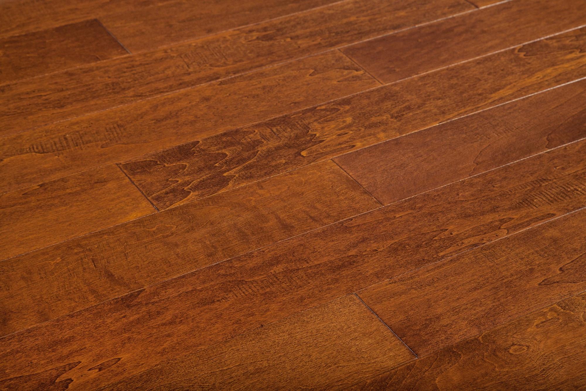 "Birch Engineered Hardwood Flooring 6 1//2/"" x 1//2/"" Birch Amber 2mm W Layer"