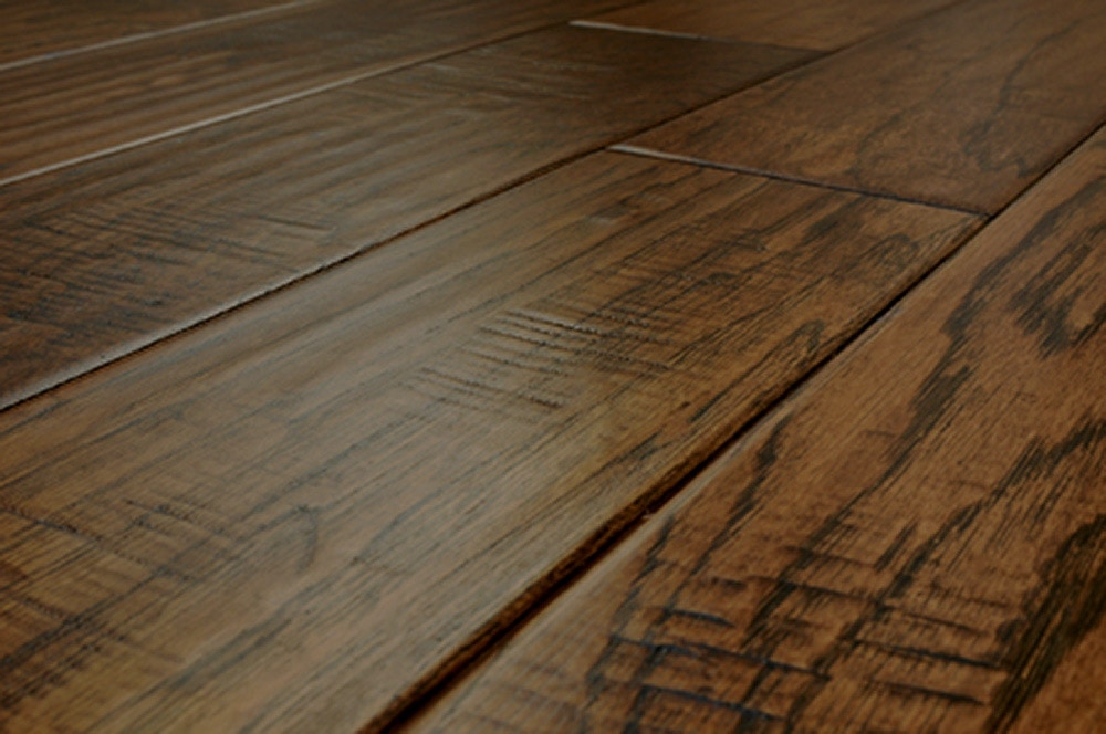 scraped floor engineered x hardwood coffee hickory pin wood flooring hand