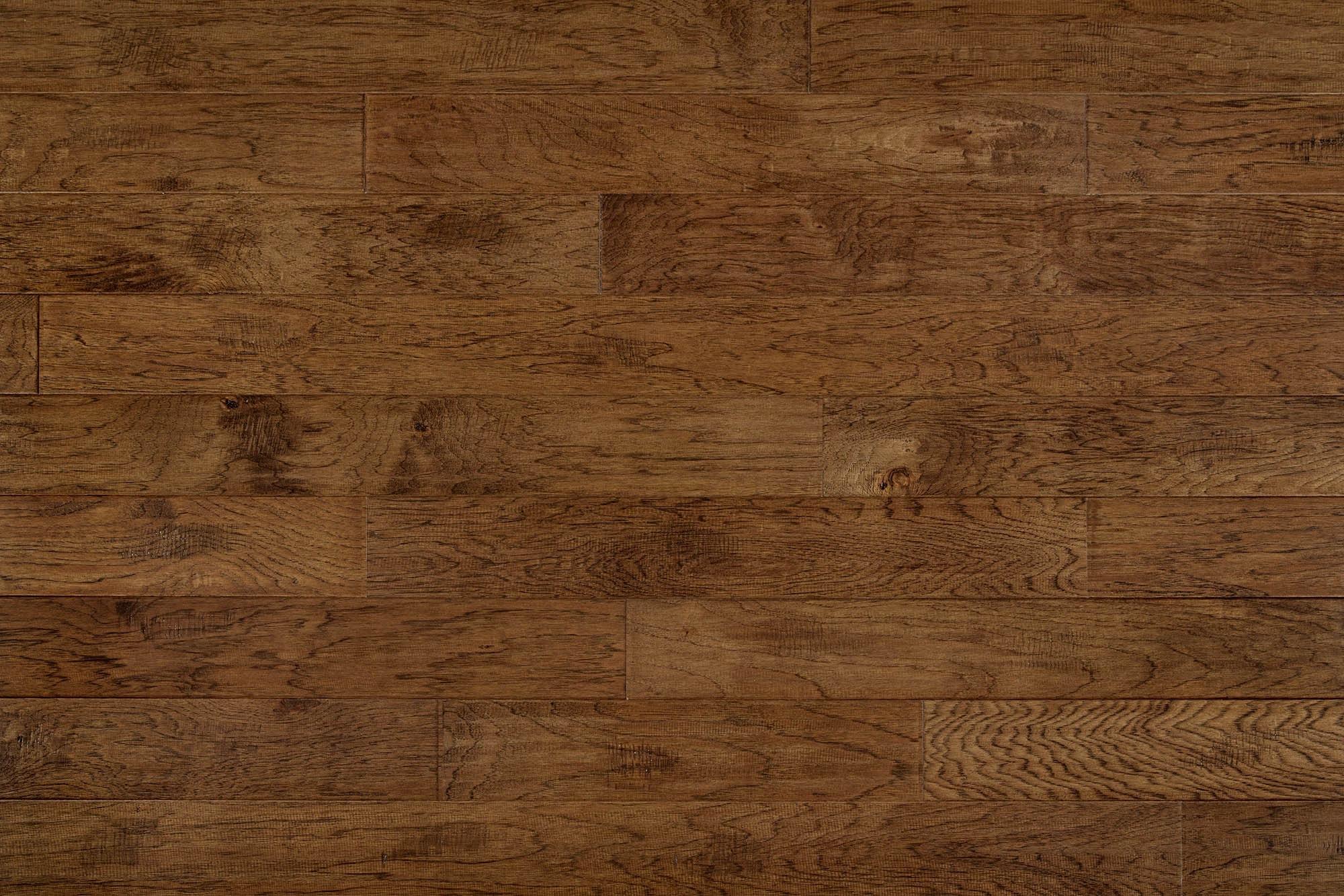 "Hickory - Charlotte / 5"" / 1/2"" / Random Length Engineered Hardwood - Handscraped Collection 0"