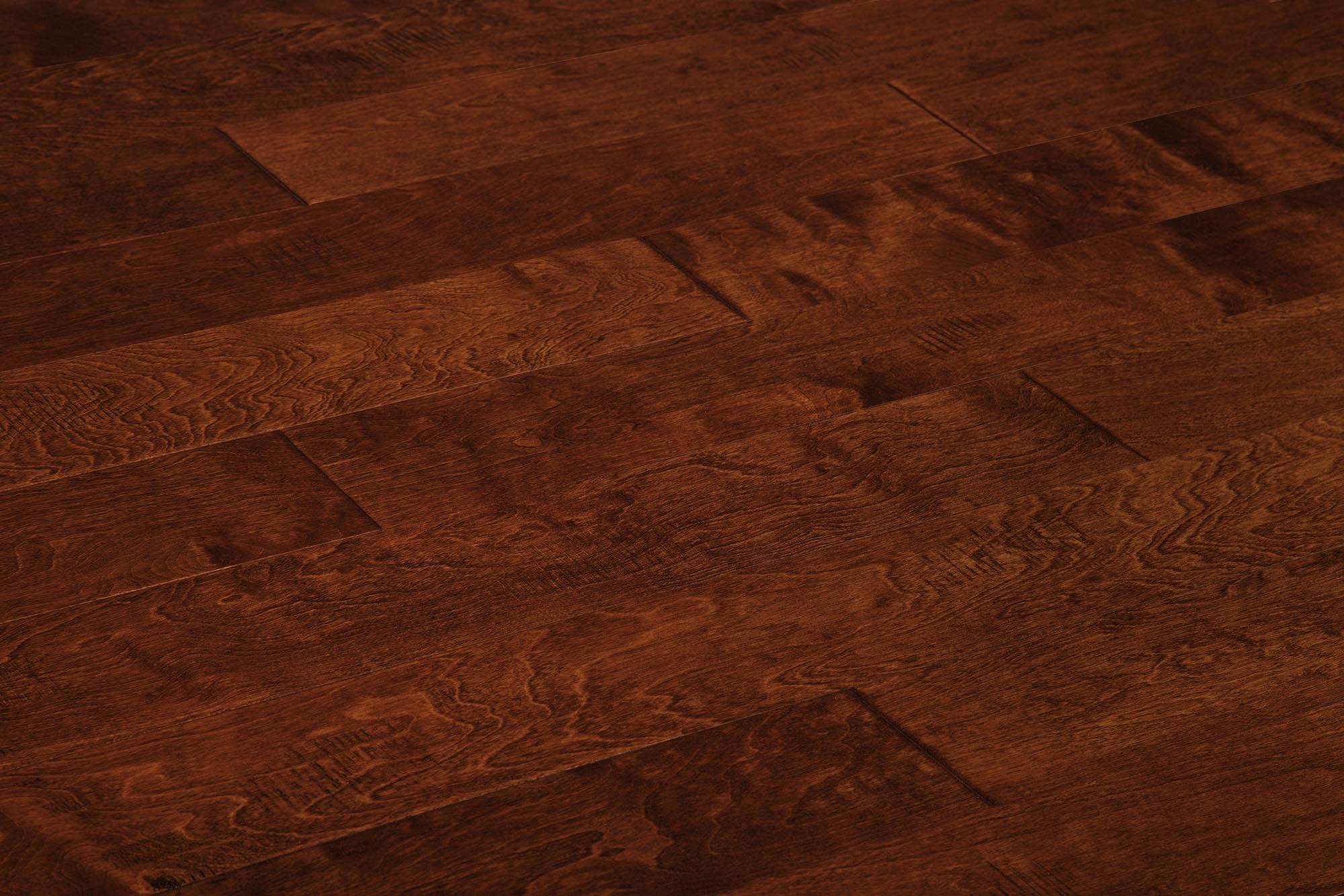 "Maple - Java / 6"" / 1/2"" / Random Lengths Engineered Hardwood - Handscraped Maple Old West Collection 0"