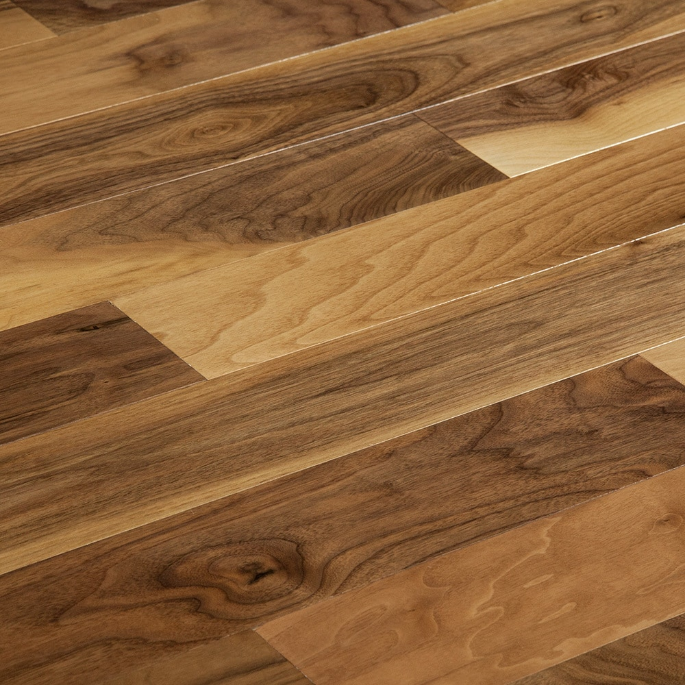 lacquered walnut black flooring floor wood engineered american