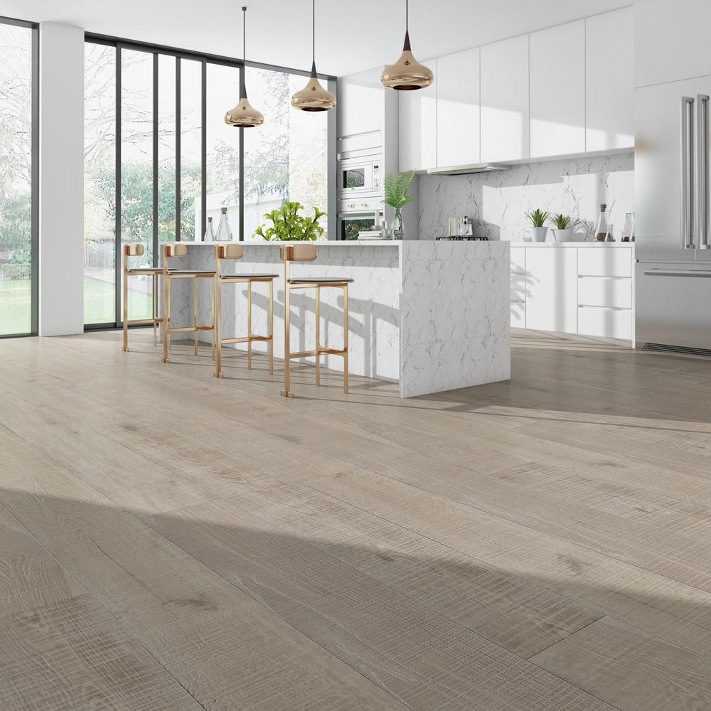 Engineered Hardwood - European Oak Whitewash Collection