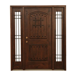 exterior knotty alder carriage collection chocolate single door knotty