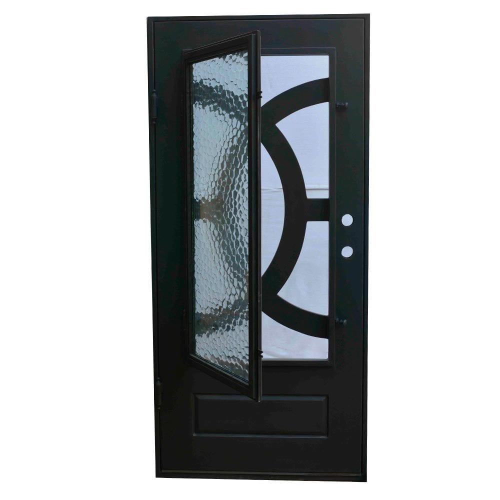 Grafton Exterior Wrought Iron Glass Doors Eclipse