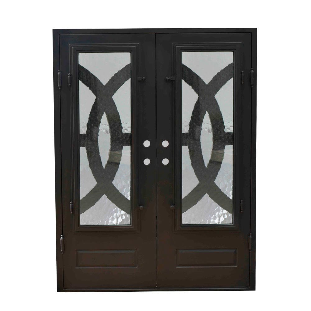Grafton Exterior Wrought Iron Glass Doors Eclipse